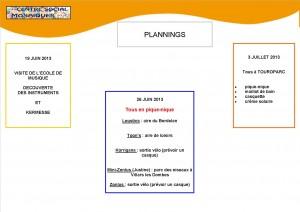 Planning mercredis