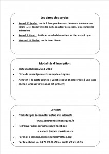 planning activités partie 2