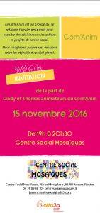 Invitation Com'Anim